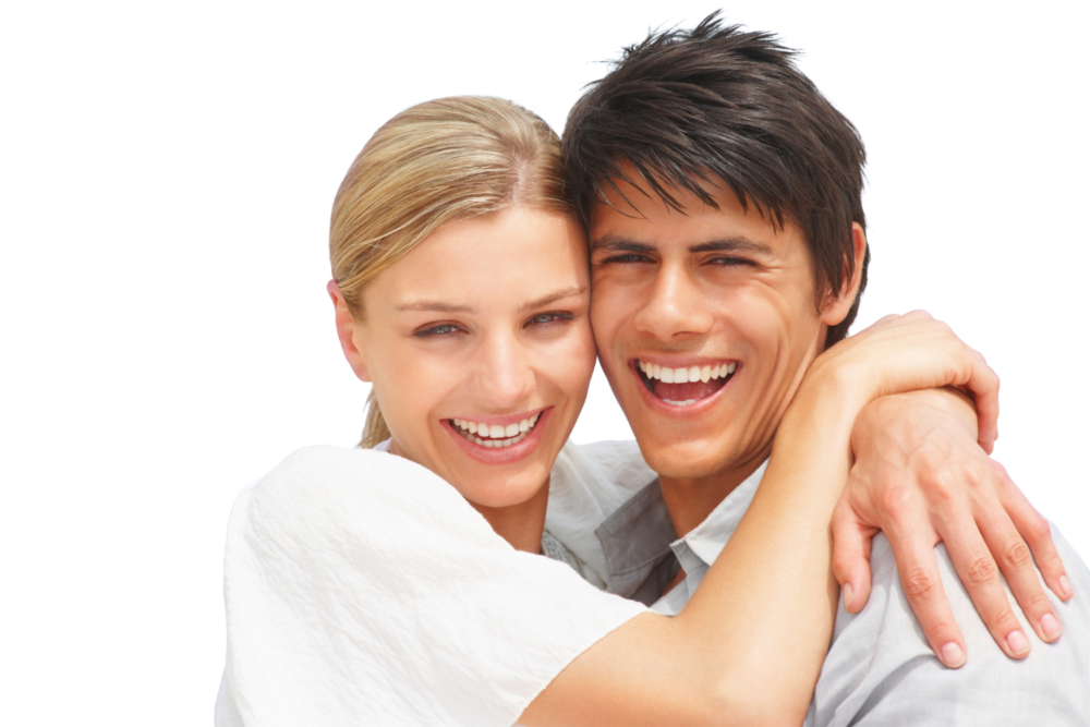 Smiling Hugging Couple